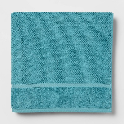 Performance Bath Sheet Turquoise Texture - Threshold™