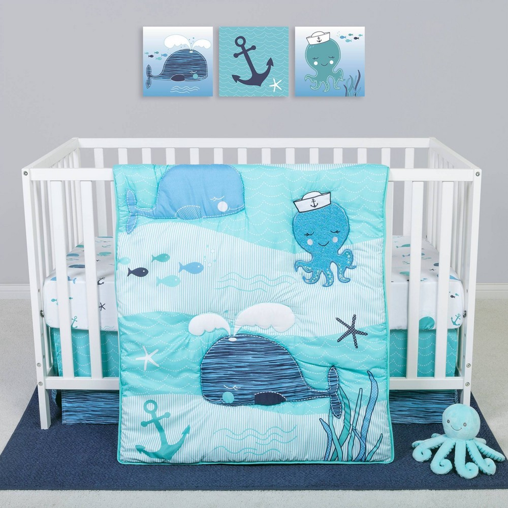 Image of Sammy and Lou Nautical Adventure Crib Bedding Set - 4pc