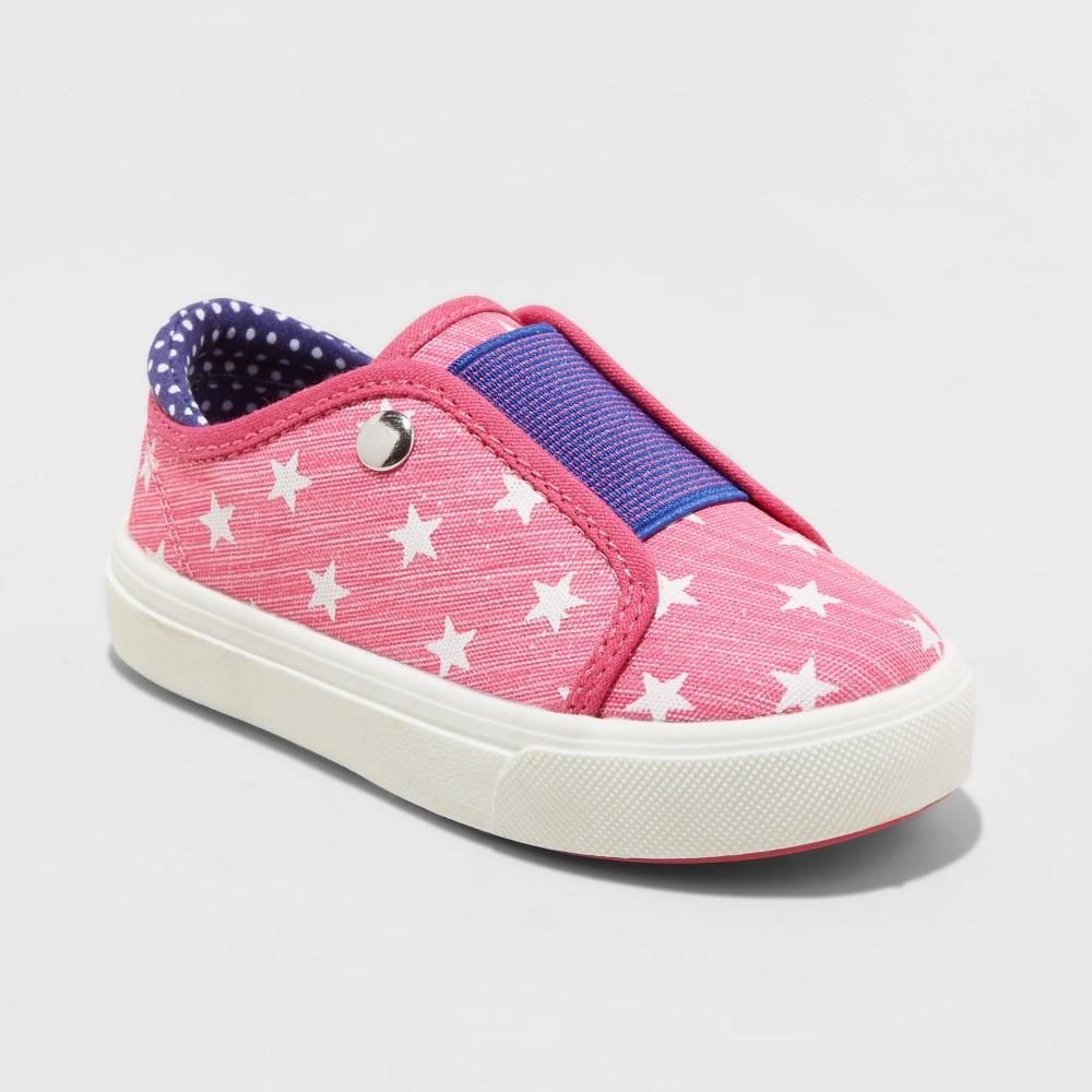 Toddler Girls' Just Bud Vamp Sneakers Star Prints - Pink 5