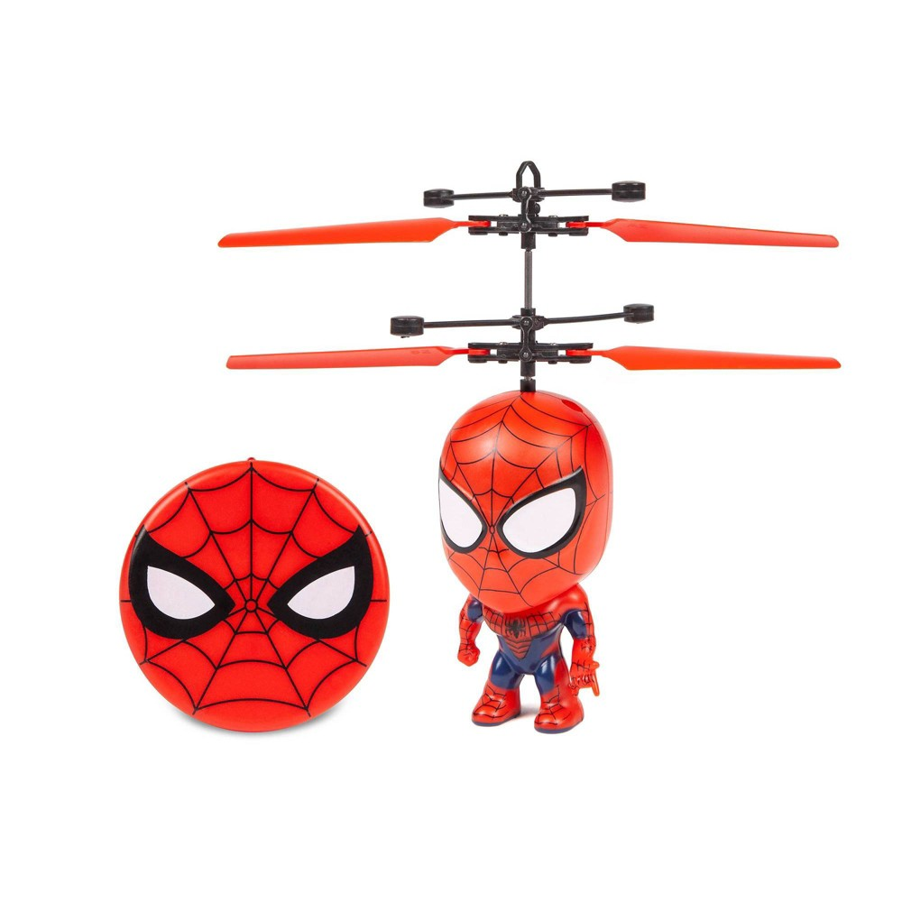 World Tech Marvel 3 5 34 Spider Man Flying Figure Ir Helicopter