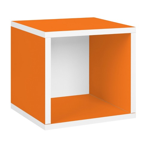 Way Basics Stackable Eco Cube Storage Cubby Organizer, Orange - Formaldehyde Free - Lifetime Guarantee - image 1 of 11