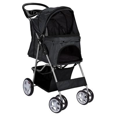 Paws & Pals 4-Wheel Pet Stroller - Black