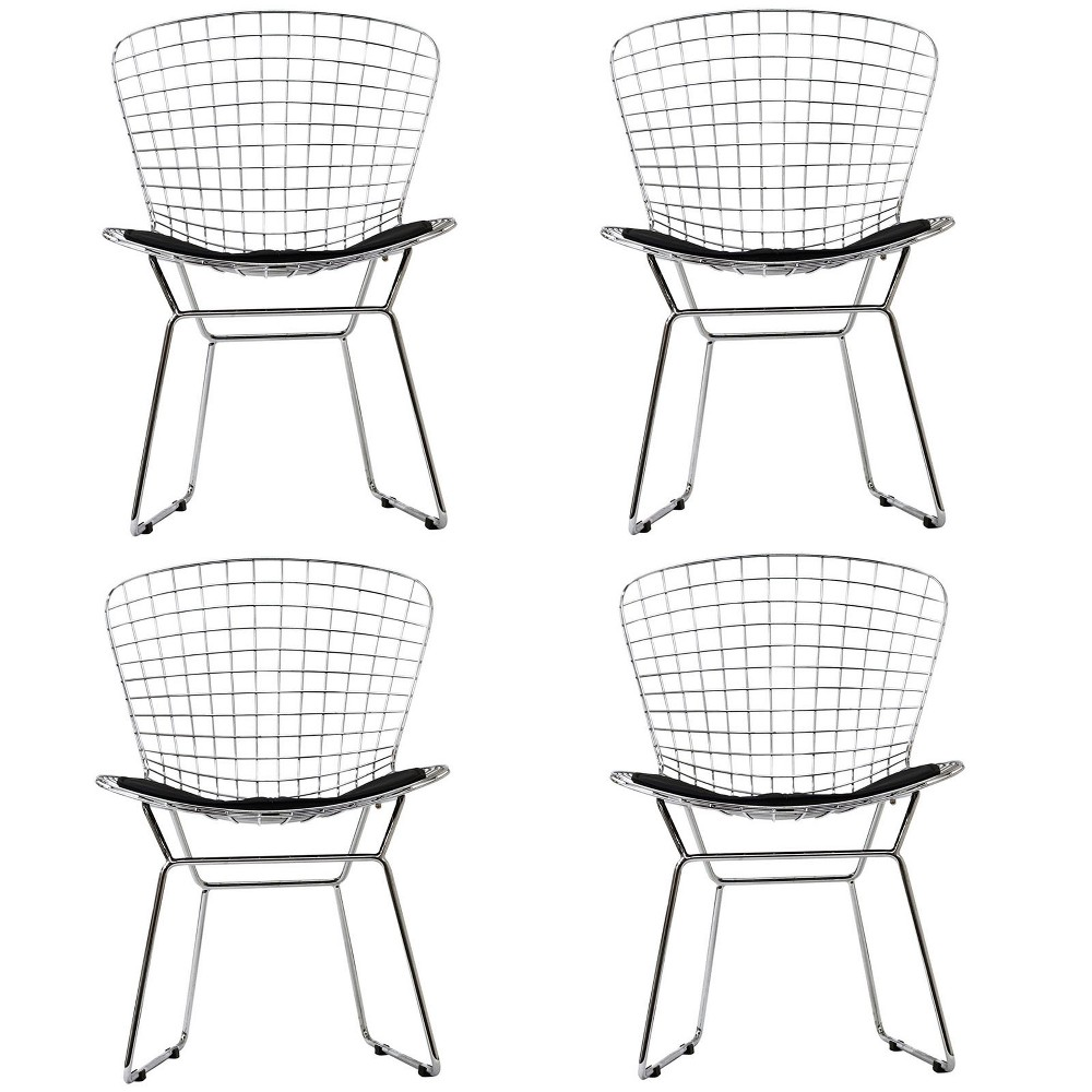 Cad Dining Chairs Set of 4 Black - Modway