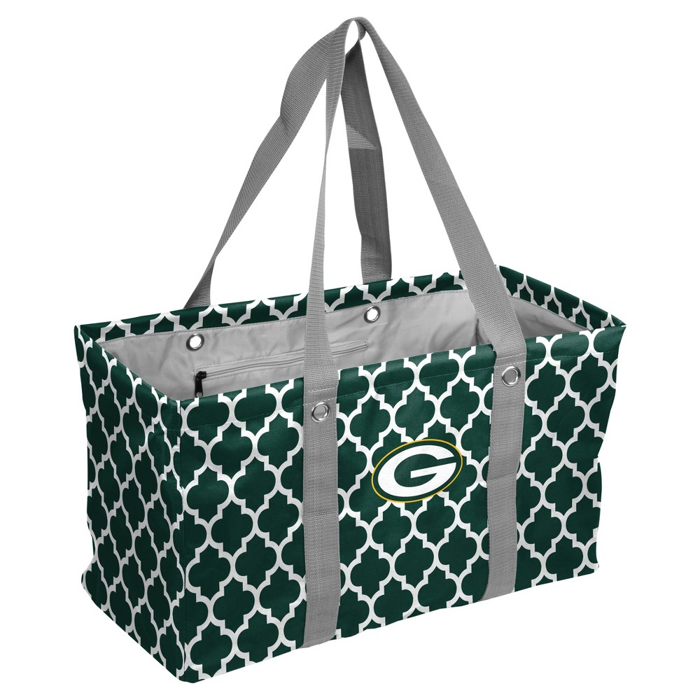NFL Green Bay Packers Quatrefoil Picnic Caddy