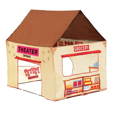 """Pacific Play Tents 2 in 1 Lil' Grocery Store And Puppet Theater House Tent 50"""" x 40"""""""