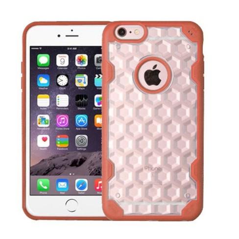 MYBAT For Apple iPhone 6 Plus/6s Plus Clear Orange Hard TPU Crystal Case - image 1 of 1