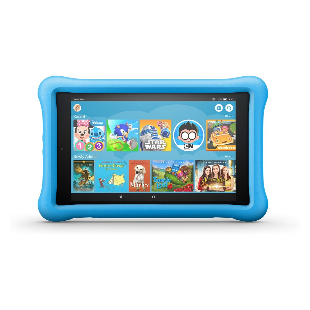 Amazon Fire HD 8 Kids Edition Tablet 8; HD Display (8th Generation, 2018 Release) - Blue Kid-Proof Case - 32GB
