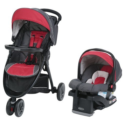 Graco® FastAction Sport LX Click Connect Travel System - Chili Red - image 1 of 10