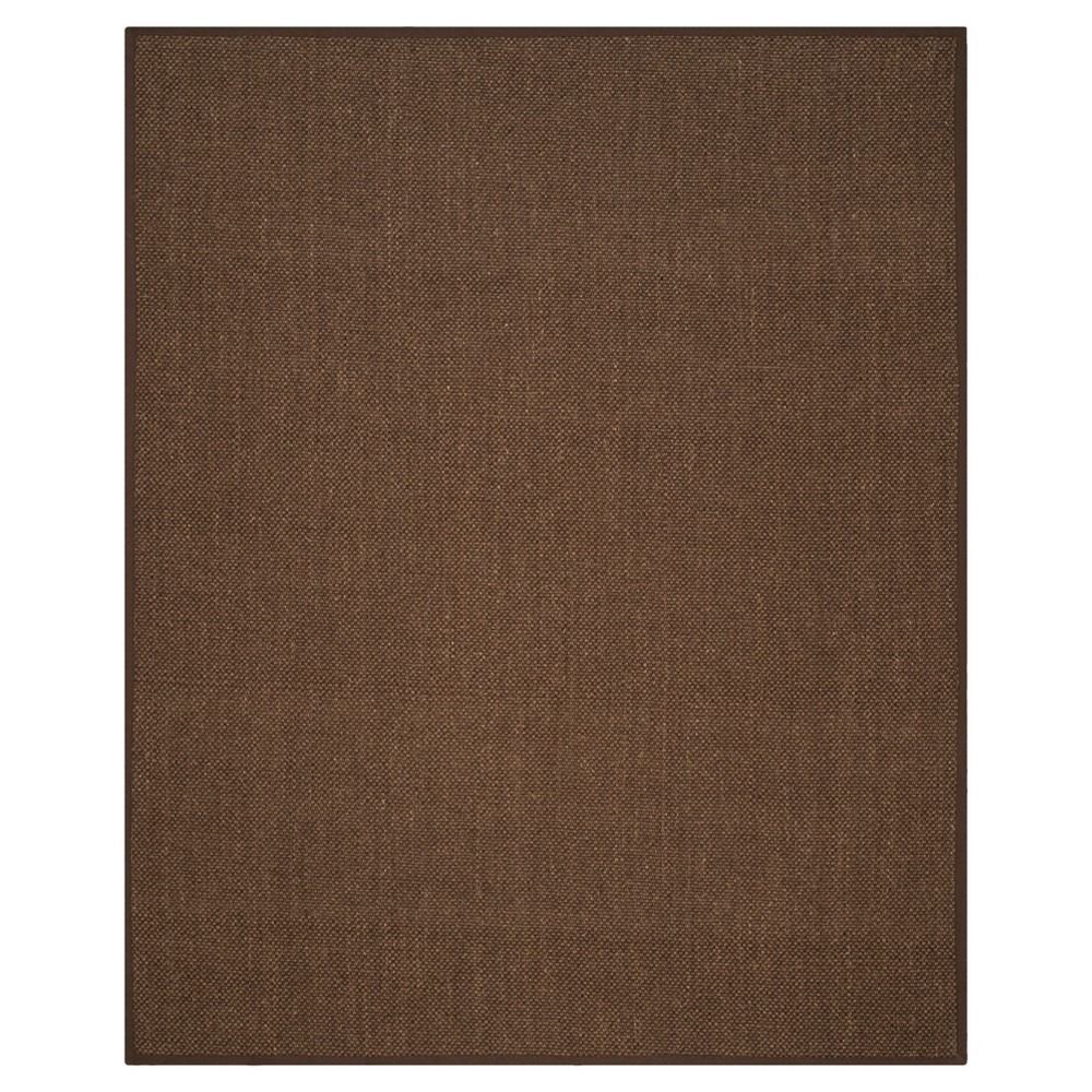 9'x12' Solid Woven Area Rug Brown - Safavieh