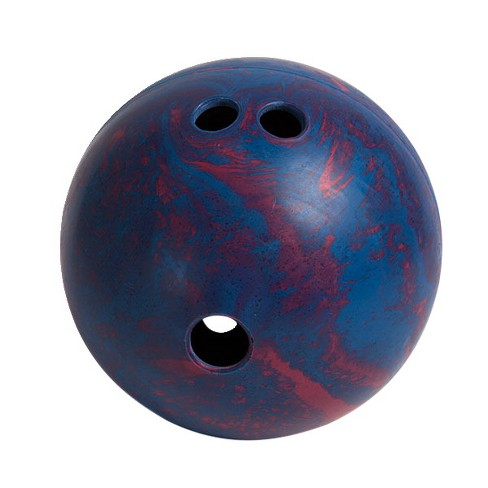 Champion Sports Lightweight Rubber Bowling Ball, 2-1/2 Pounds, Teal and Red Swirl - image 1 of 1