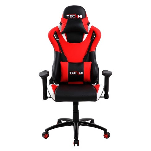Chair Style Gaming Sport Ergonomic Video Techni Back Red Racer High FJT3Kcl1