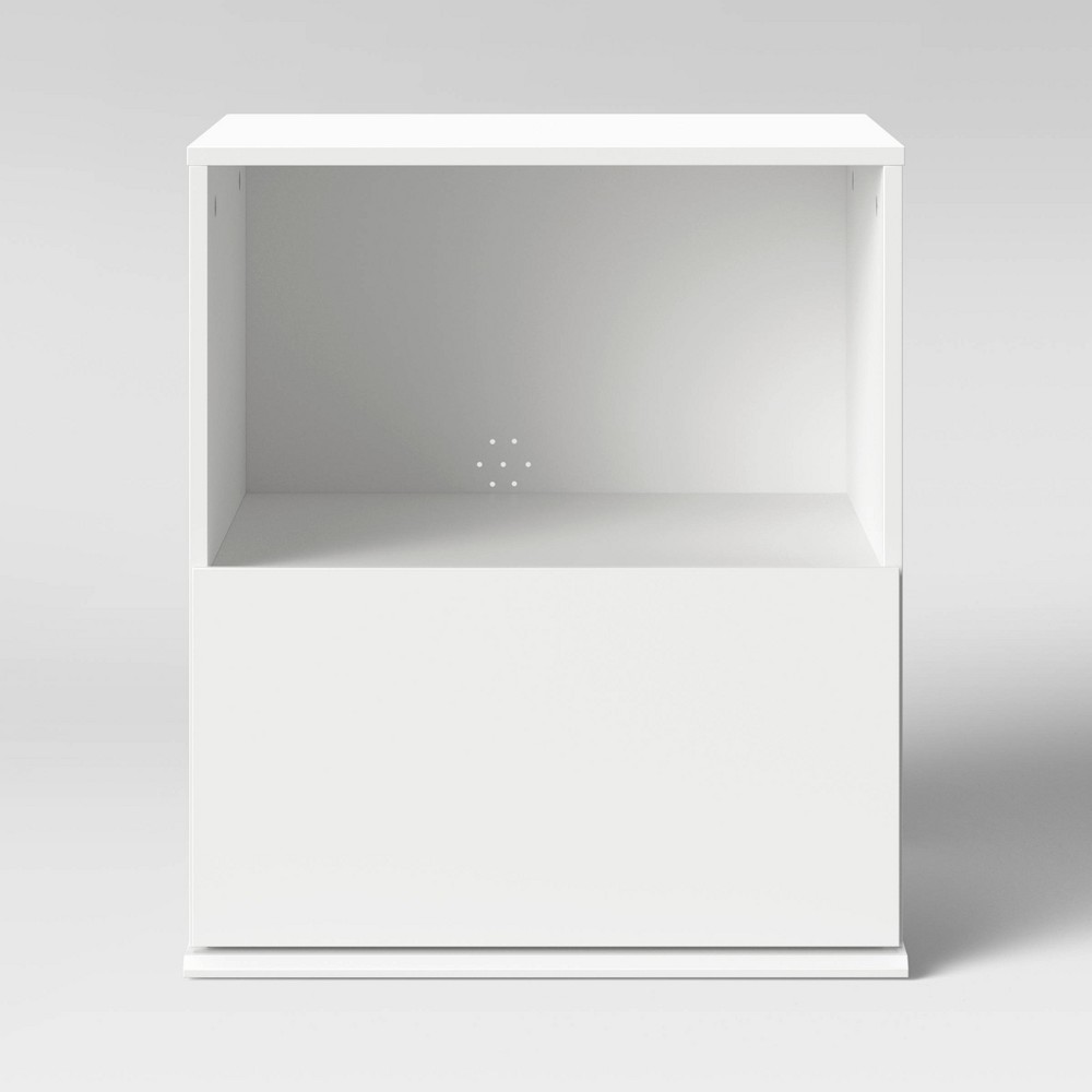 Image of 1 Drawer Modular Nightstand White - Room Essentials