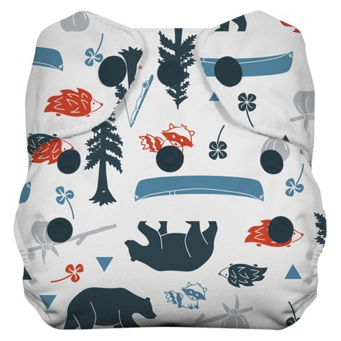 Thirsties Natural All-in-One Snap Cloth Diaper, Newborn (Assorted Styles) - image 1 of 4