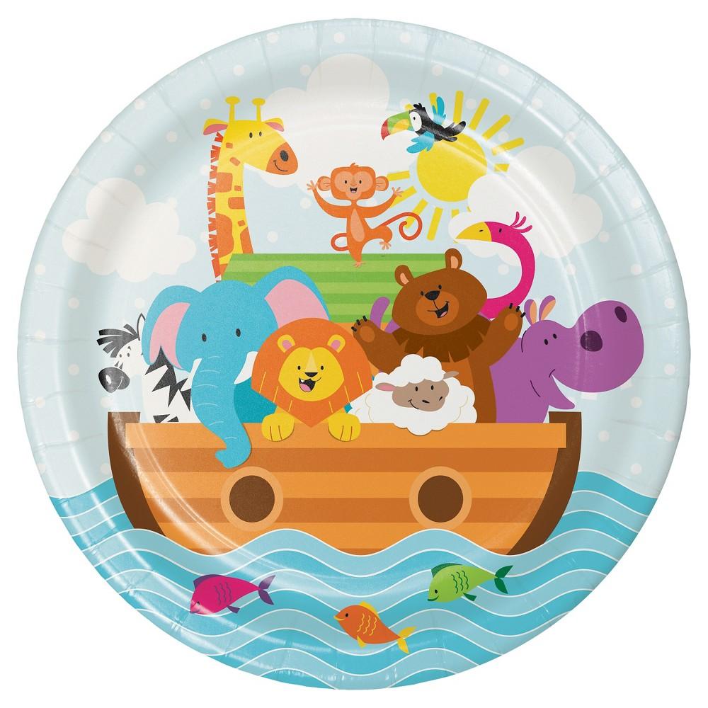 Noah's Ark Plates, 8 pk, Disposable Dinnerware