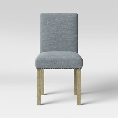 Chestertown Dining Chair with Nailheads Light Gray - Threshold™