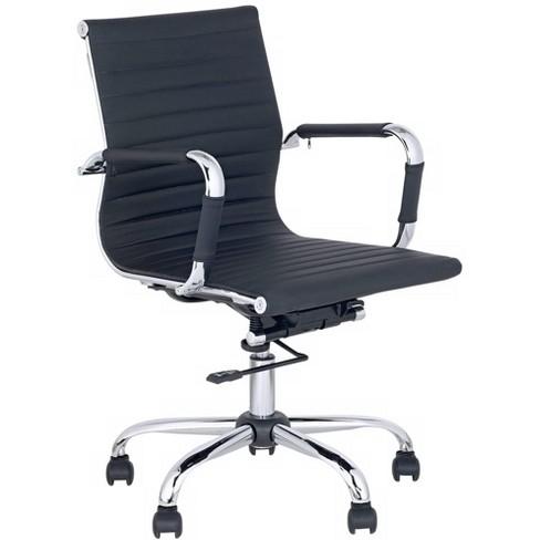 Studio 55D Serge Black Low Back Swivel Office Chair - image 1 of 4