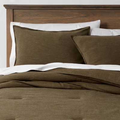 Space Dyed Cotton Linen Comforter & Sham Set - Threshold™