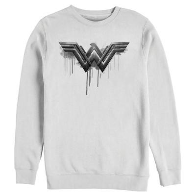 Men's Zack Snyder Justice League Wonder Woman Silver Logo Sweatshirt