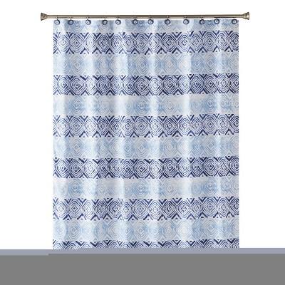 Kali Diamonds Shower Curtain Blue - Saturday Knight Ltd.