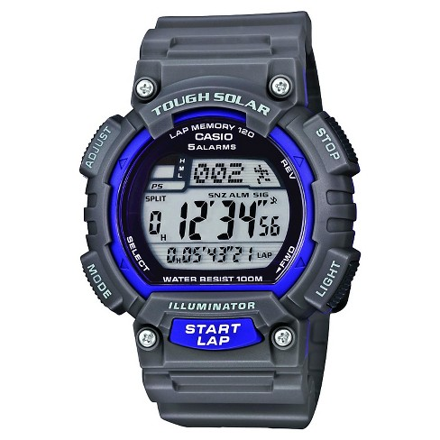 Men's Casio Solar Powered 120 Lap Sport Watch - Gray (STLS100H-8AV) - image 1 of 1