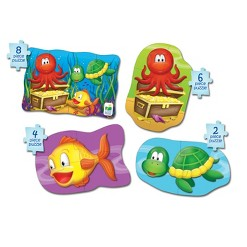 The Learning Journey My First Puzzle Sets 4-In-A-Box Puzzles, 20pc - Ocean