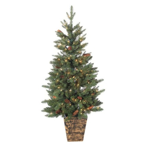 Natural Christmas Tree.Sterling Tree Company Potted Natural Cut Riverton Pine Artificial Christmas Tree