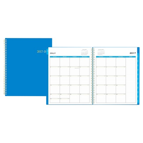 2017-2018 Blue Sky® Academic Planner Weekly Monthly - Cobalt Blue - image 1 of 4