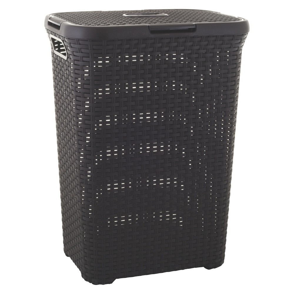 Image of Curver Style 60 Liter Hamper - Dark Brown
