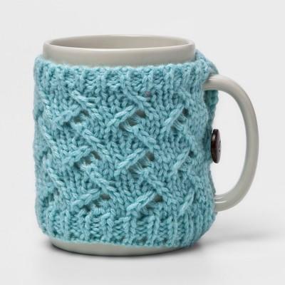 9.9oz Stoneware Sweater Mug Light Blue - Threshold™