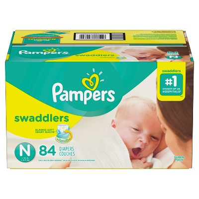 Pampers Swaddlers Diapers Super Pack - Size Newborn (84ct)