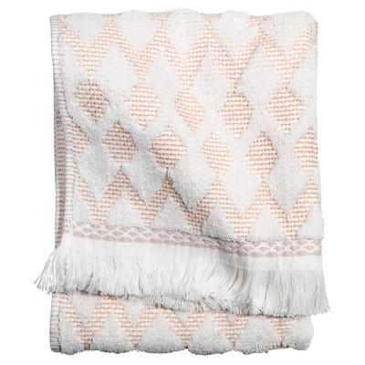 Finial Bath Towel Coral & White - Threshold™