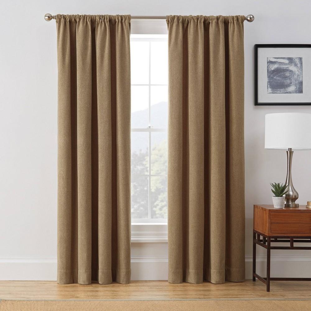 "Compare 63""x50"" Harvey Room Darkening Window Curtain Panel  - Brookstone"