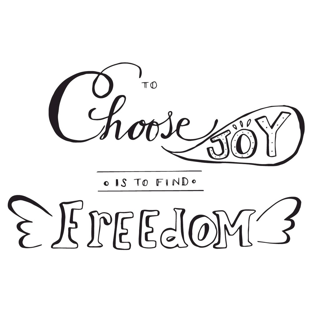 To Find Freedom Wall Decal - Black