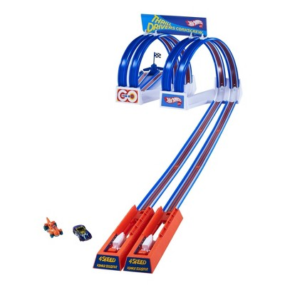 Hot Wheels Flying Customs Thrill Drivers Corkscrew Trackset