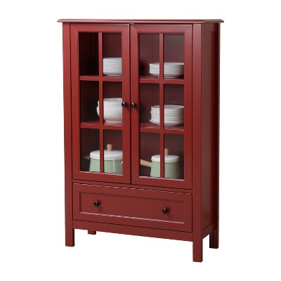 Attrayant Miranda Glass Cabinet   Red   Homestar : Target