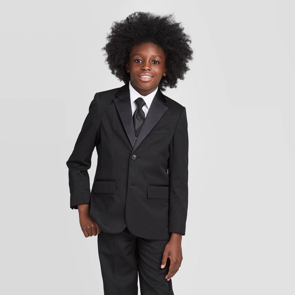 Image of Oxford Boys' Long Sleeve Tuxedo Jacket - Black 10, Boy's