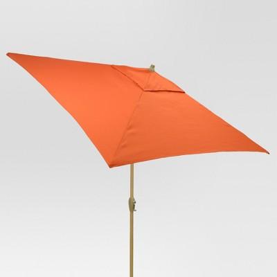 6.5' Square Umbrella - Coral - Light Wood Finish - Threshold™