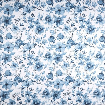 """72""""x72"""" Wild Flower Cotton Fabric Shower Curtain Blue - Nicole Miller"""
