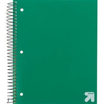 Spiral Notebook 1 Subject Wide Ruled 100 Sheets - up & up™