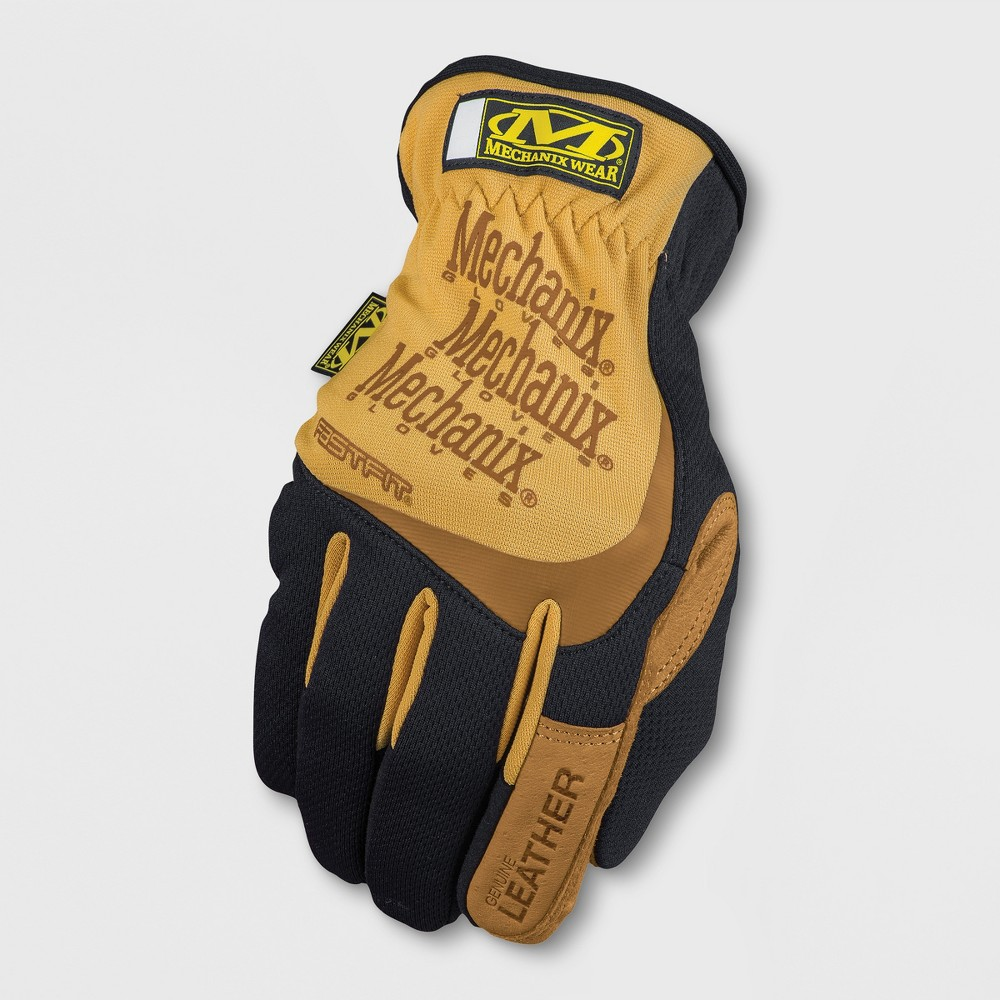 Image of Leather FastFit Gardening Gloves Brown S - Mechanix Wear, Adult Unisex, Size: Small