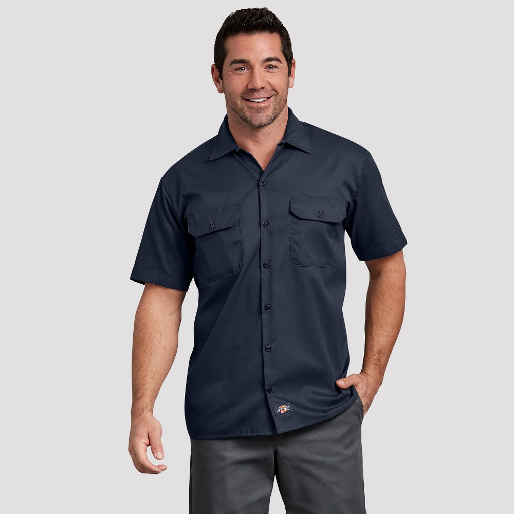 Dickies Men s Reaxed Fit Short Seeve Button Down Shirt