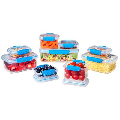 Sistema Klip It Accents 18pc Collection Food Storage and Meal Prep Containers, Assorted Shapes and Colors