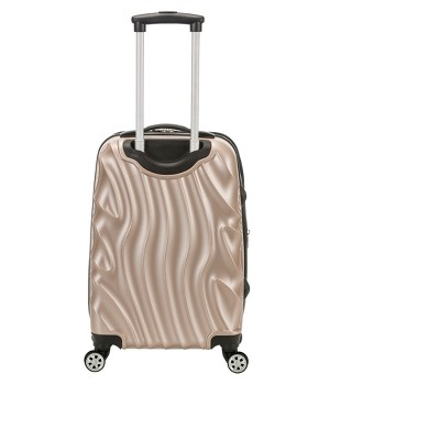 Rockland Melbourne 20  Expandable ABS Carry On Suitcase - Wave Pattern