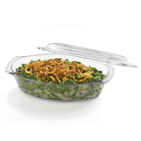 Libbey Baker's Basics Glass Oval Casserole with Cover - image 1 of 2
