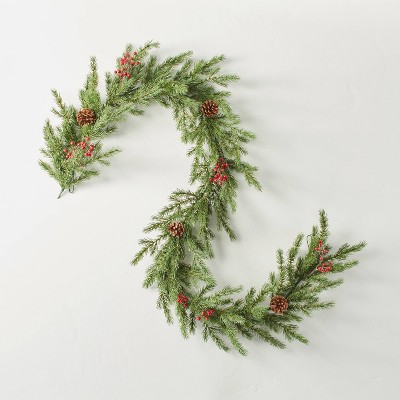 Faux Pine with Berries & Pinecones Plant Garland - Hearth & Hand™ with Magnolia