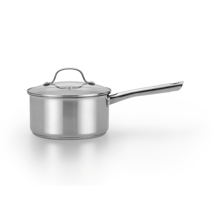 T-Fal 3qt Stainless Steel Saucepan with Lid - image 1 of 4