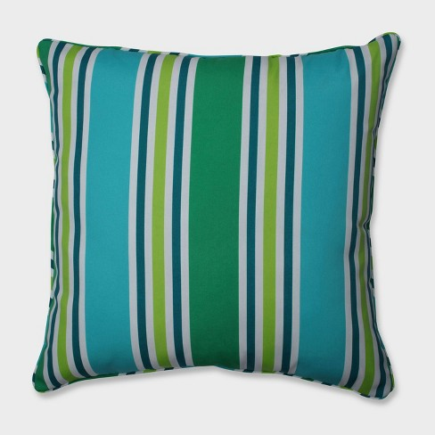 "25"" Aruba Stripe Floor Pillow Blue - Pillow Perfect - image 1 of 3"