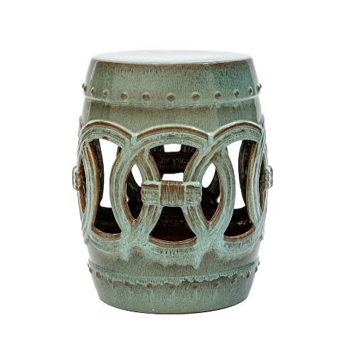 Moroccan Ceramic Garden Stool - Abbyson Living - image 1 of 4