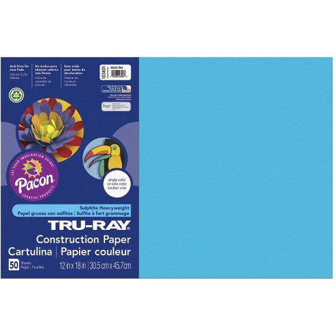 Tru-Ray Sulphite Construction Paper, 12 x 18 Inches, Atomic Blue, 50 Sheets - image 1 of 2