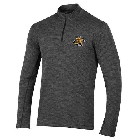 Wichita State Shockers Men's Long Sleeve Digital Textured 1/4 Zip Fleece - Gray - image 1 of 1
